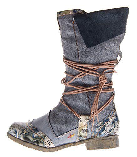 Damen Leder Winter Stiefel Comfort Boots TMA 5561 Schuhe Schwarz Weiß Blau Stiefeletten gefüttert - http://on-line-kaufen.de/tma/damen-leder-winter-stiefel-comfort-boots-tma-5561