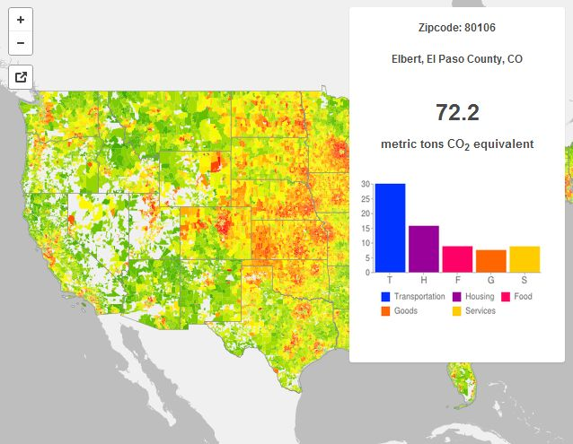 Dynamic Heat Map Carbon Emissions In America