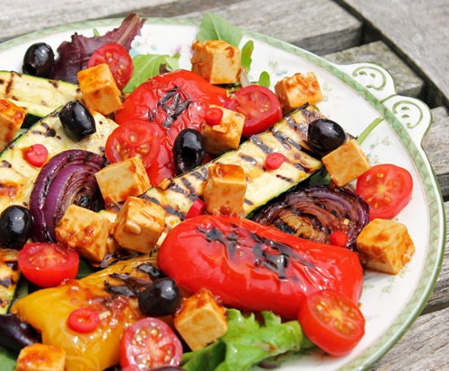 Roast Vegetable Salad for the vegetarian barbecue