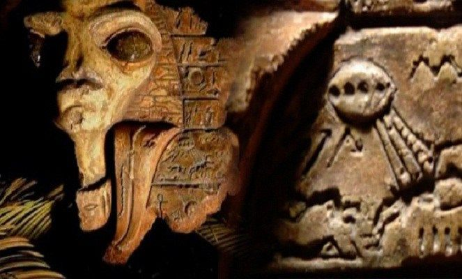 Salah satu bukti artefak alien kuno. Apakah ini hanya hasil imajinasi orang-orang dulu? [Image Source]