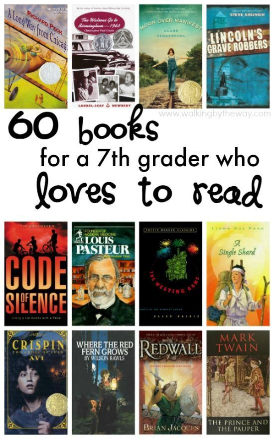 Have a seventh grader who loves to read? Check these out. // Article by Walking By The Way