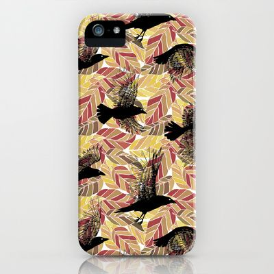 Ulha Falling Crows iPhone & iPod Case by rikki velez - $35.00