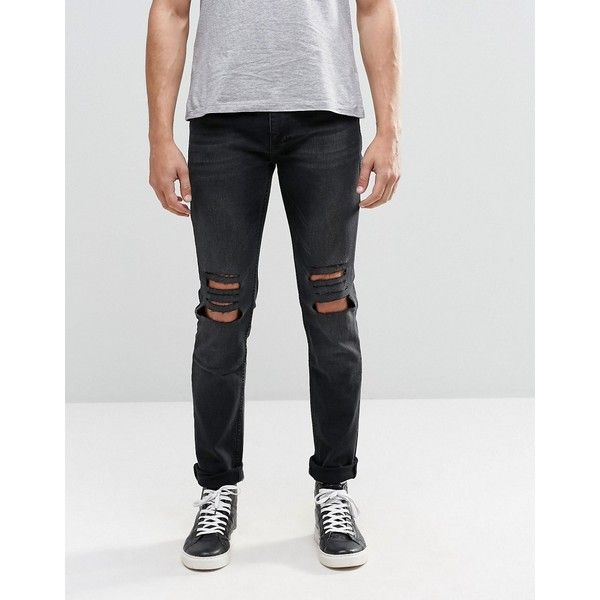 Religion Ripped Noize Jeans (2,620 DOP) ❤ liked on Polyvore featuring men's  fashion, - Best 20+ Mens Destroyed Jeans Ideas On Pinterest Boyfriend Jeans