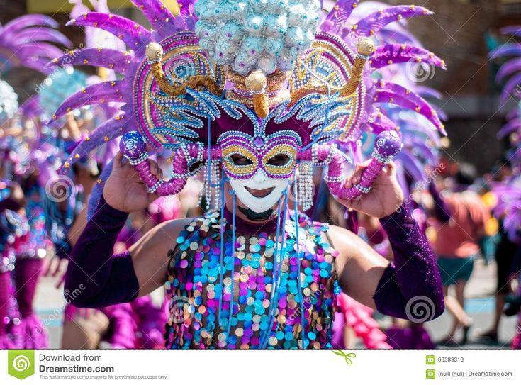 Masskara Festival. Bacolod City, Philippines. Stock Photo