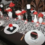 Black, White & Red Damask Party