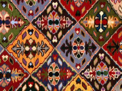 Romanian Loom-Woven Carpet Detail, Suceava,