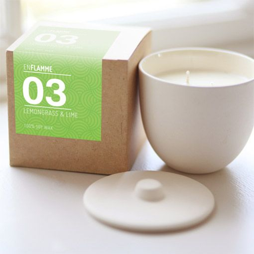 Enflamme Candle - Lemongrass & Lime - Object of Desire Shop