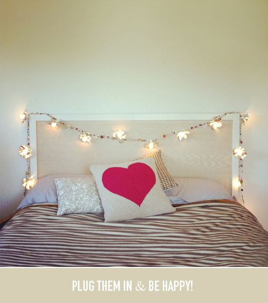 DIY: sparkly string lights