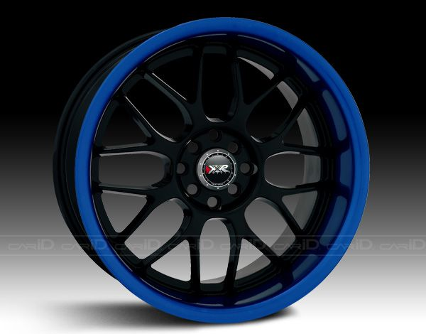 XXR® - 006 Black with Blue Anodized Lip possibly for my future Subie