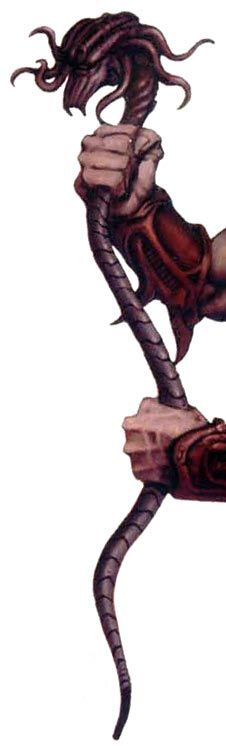 BIOT: Amphistaff - snake like weapon. Used by the Warrior caste. spits out venom and constricts.