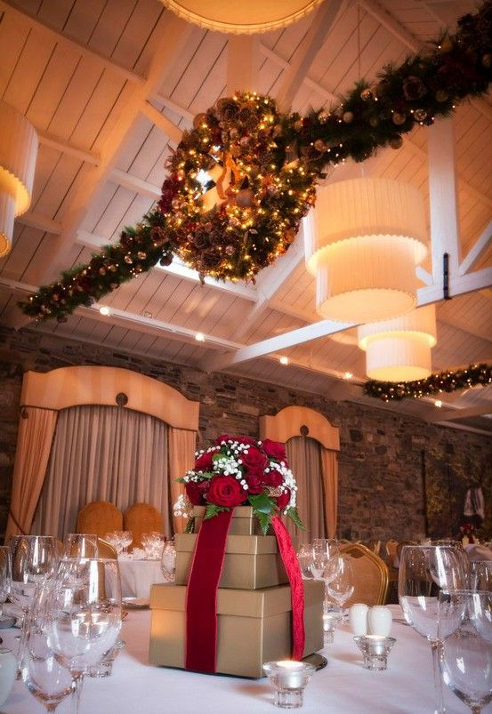 Christmas Center Piece and Decorations at Ballymagarvey