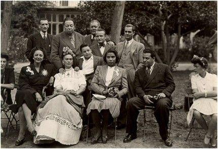 Marian Anderson, Frida Kahlo, Diego Rivera, Miguel Covarrubias, Rosa Covarrubias, Ernesto de Quesada, and others, Mexico, 1943.