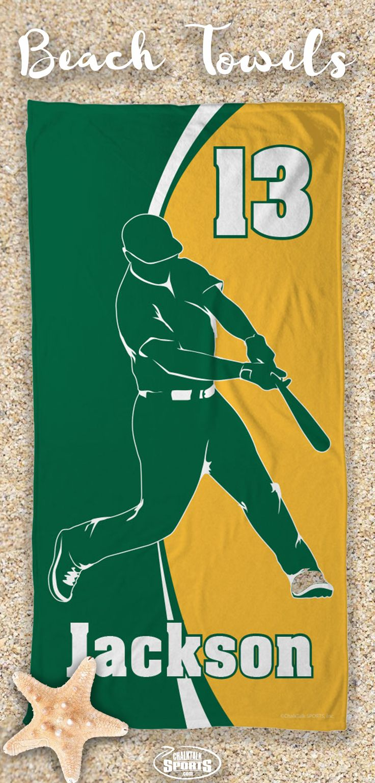 Summer is almost here! Bring your baseball pride with you wherever you go this summer with our personalized and custom beach towels!