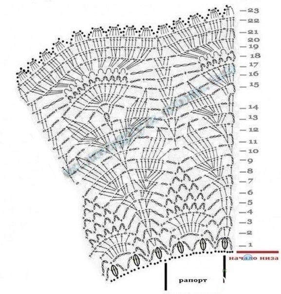 Болеро с цветками | Болеро | Вязание спицами и крючком. Схемы вязания.