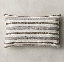 Double Pinstripe Pillow Cover - Lumbar