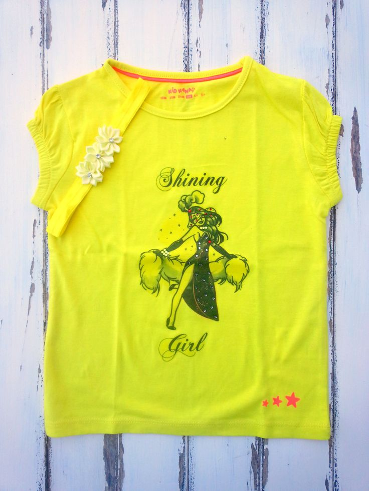 Girls Burlesque Shirt With Matching Headband, Yellow Girls Shirt With Rhinestones, Girls T-Shirt 3 Years, Toddler Shirt Matching Headband by PinkAndBlueSugar on Etsy
