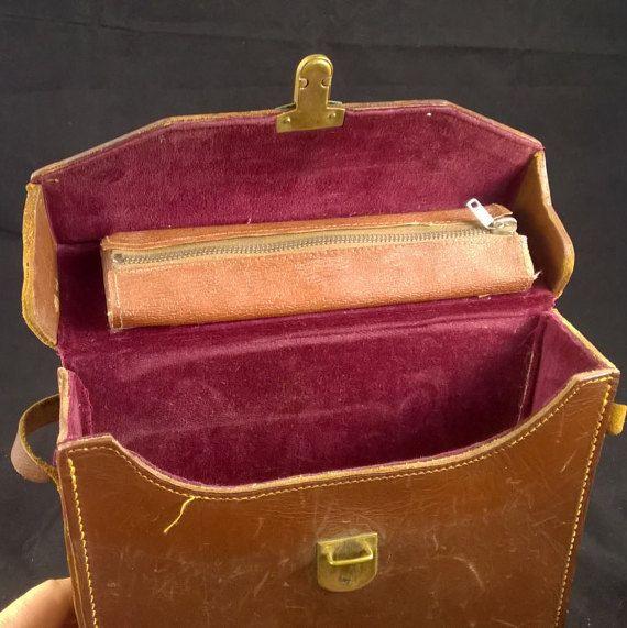 Leather bag ADMIRA 8  beautiful vintage leather by SmalandVintage