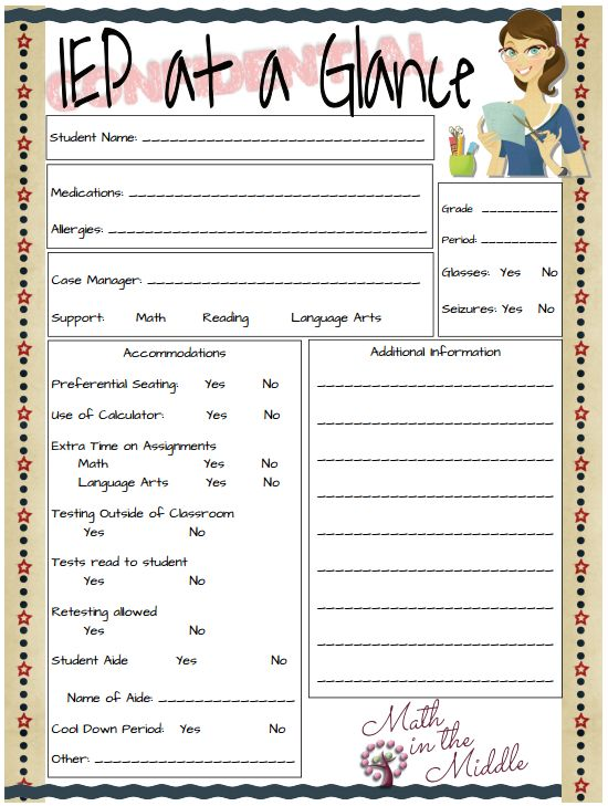 16 best Special Education Documentation images on Pinterest ...