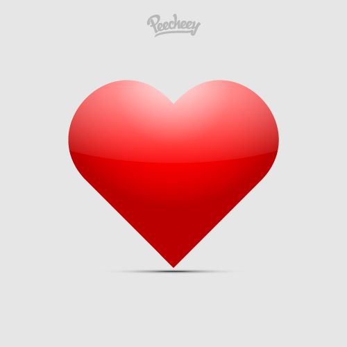 Red heart in love