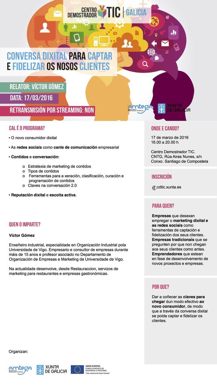 El jueves 17 en el #CDTIC hablaremos de conversaciones digitales // @amtega @restauraaccion  Más información e inscripciones en  http://cdtic.xunta.es/conversa-dixital