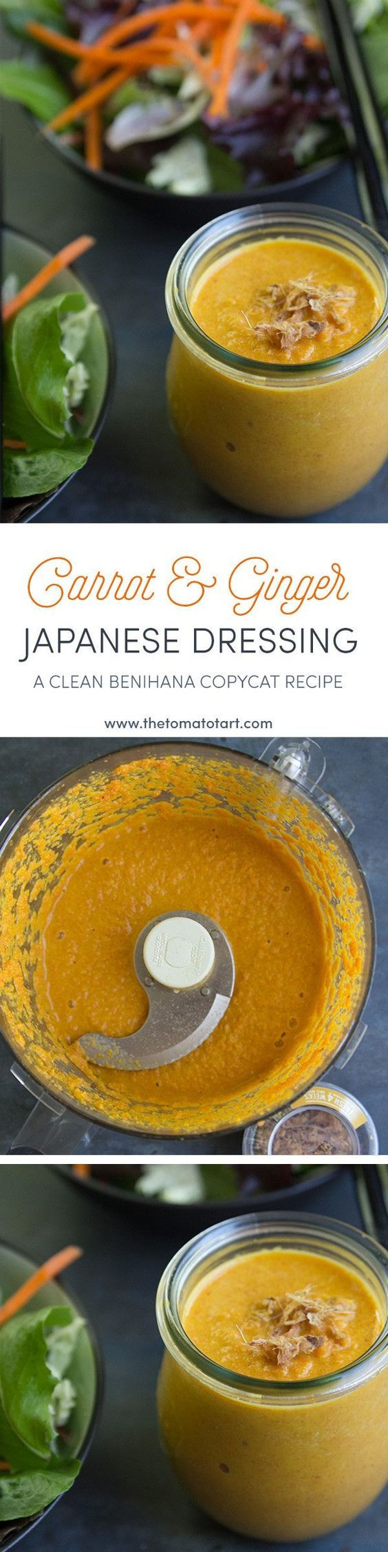 Carrot Ginger Salad Dressing - paleo option available.