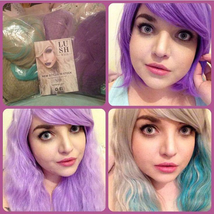 @medusa_roisin Looking amazing in her new wiggy's :D #lushwigs #wig #lushwigslittlelilac #lushwigsstarshowers #lushwigsviolet  #cosplay #cosplaywig www.lushwigs.com
