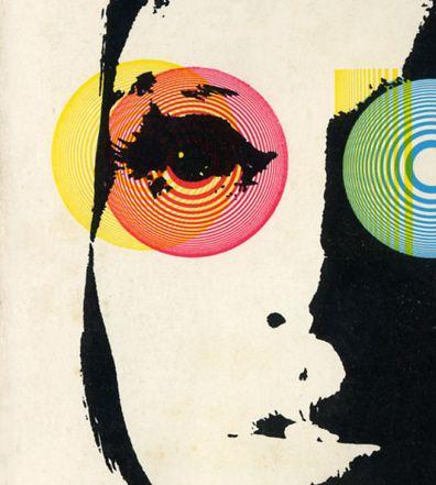 Vintage Book Cover (Psychedelic illustration /eyes / pop art / illustration / mod style )
