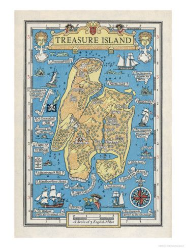 Map of Treasure Island Giclee Print by Monro S. Orr at AllPosters.com