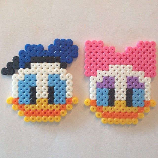 Donald and Daisy Duck hama perler by jifode