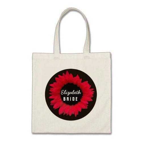 Elegant Red Sunflower Wedding A11Z Tote Bag