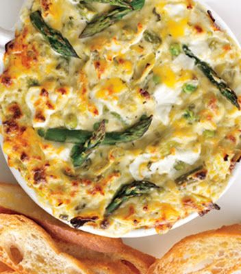 Spicy Spring Vegetable and Goat Cheese Dip
