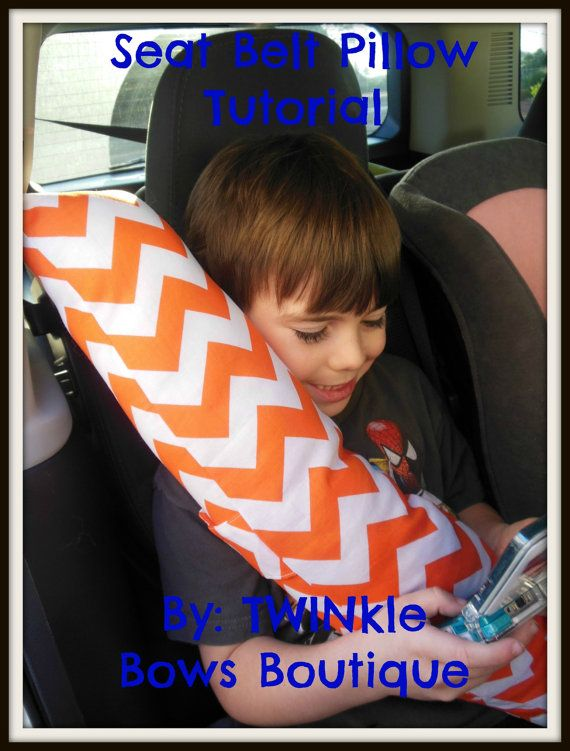 NEW Instant Download Seatbelt Pillow Tutorial by LittleTWINkleBows, $6.00