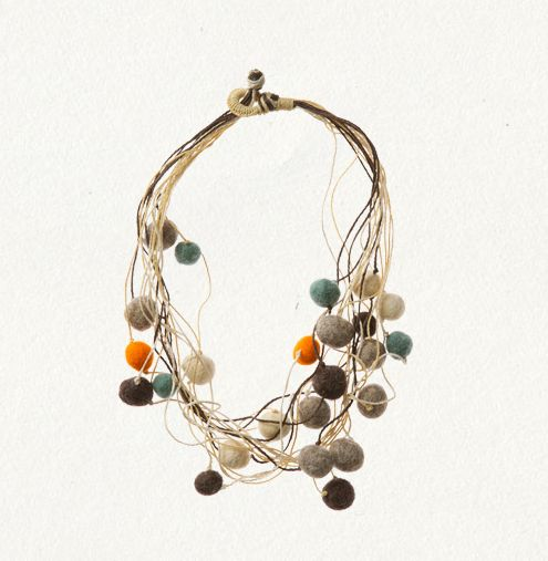 Wool felt ball necklace from Anthropologie.