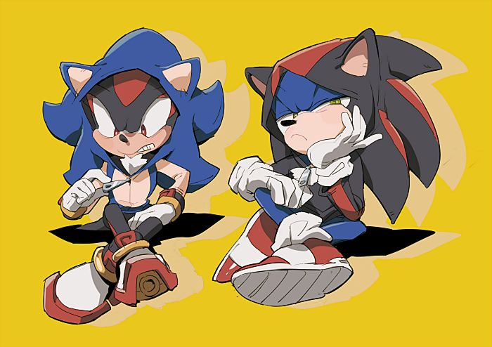 sonic and shadow 6 by aoki6311.deviantart.com on @deviantART ~ this is funny cute!