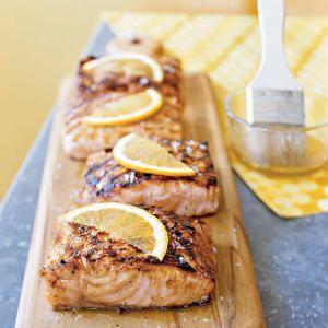 Tailgating Menus | Salmon Menu | CookingLight.com I make mine with lemon slices and jalapenos.