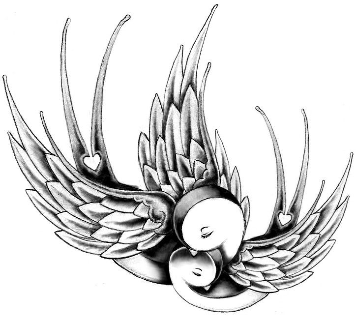 Add another baby bird and this would be perfect for my tattoo idea I have in my head.