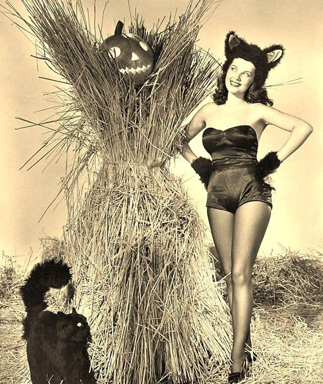 Barbara Bates vintage Halloween pinup