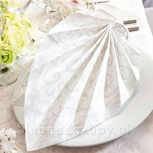 SERWETKI flizelinowe White Dream 40x40cm 50szt #slub #wesele #sklepslubny #slubnezakupy #dekoracje