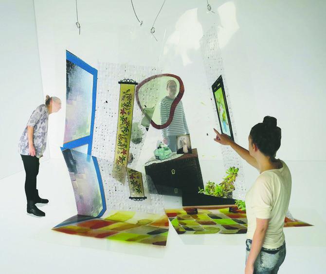 The memorie proces in a textile installation - Gitte Lægård