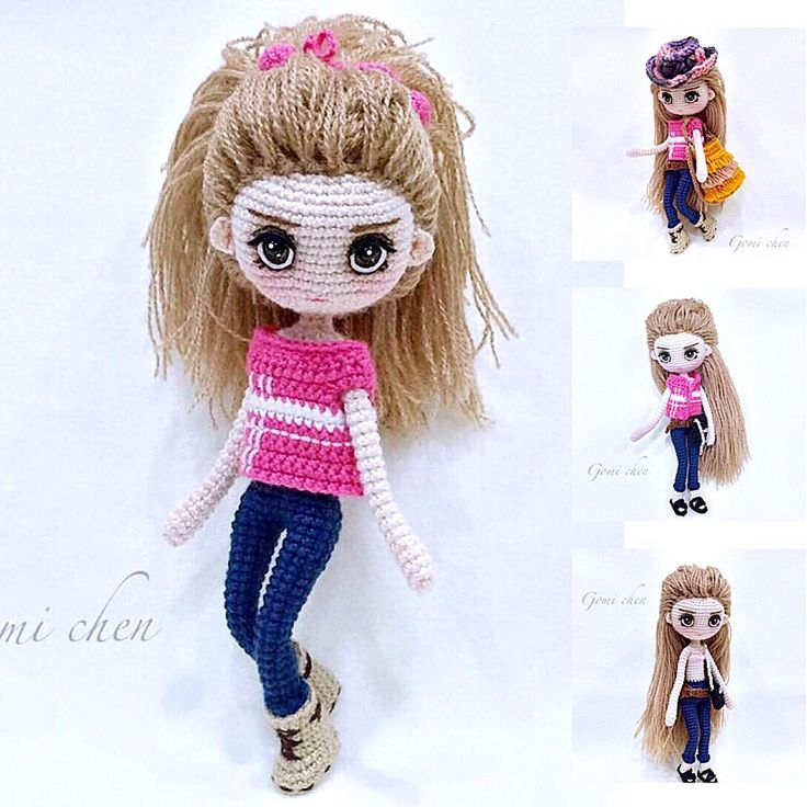 Jill洁儿 Great works done by participant of my Weibo Crochet Activity, @gomi_chen . Amazing works!