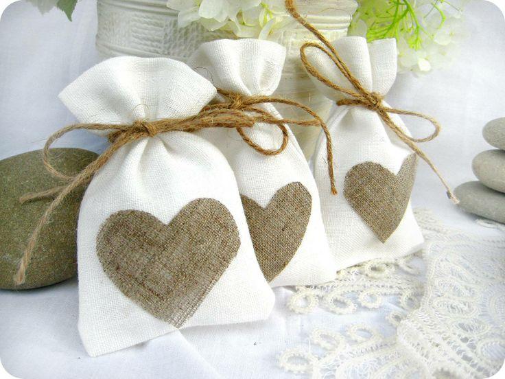 white wedding favor bags
