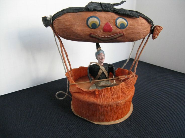 antique halloween candy container ebay sold 29900 - Vintage Halloween Decorations Ebay