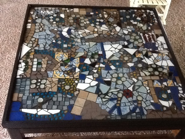 Tiled The Top Of What Was Once A Glass Topped Coffee Table