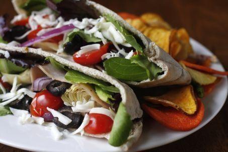 Go Greek & Taste Mediterranean' Pita Sandwiches