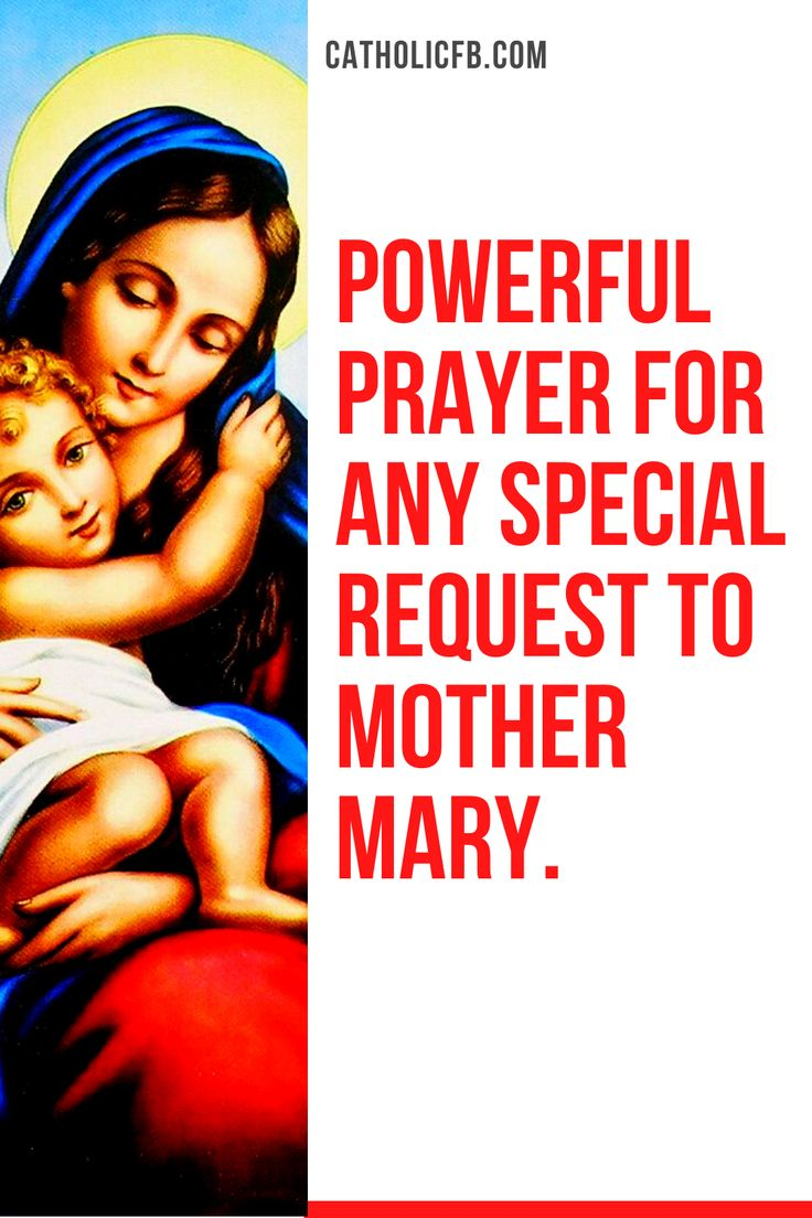Powerful Prayer for any Special Request to Mother Mary in
