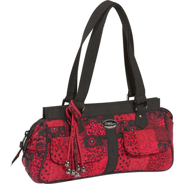 Donna Sharp Megan Bag, Crimson ($44) ❤ liked on Polyvore featuring bags, handbags, shoulder bags, shoulder bag purse, donna sharp, donna sharp handbags, donna sharp purses and shoulder handbags
