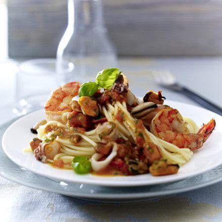 Spaghetti mit Meeresfrüchten (Frutti di Mare) Rezept | LECKER