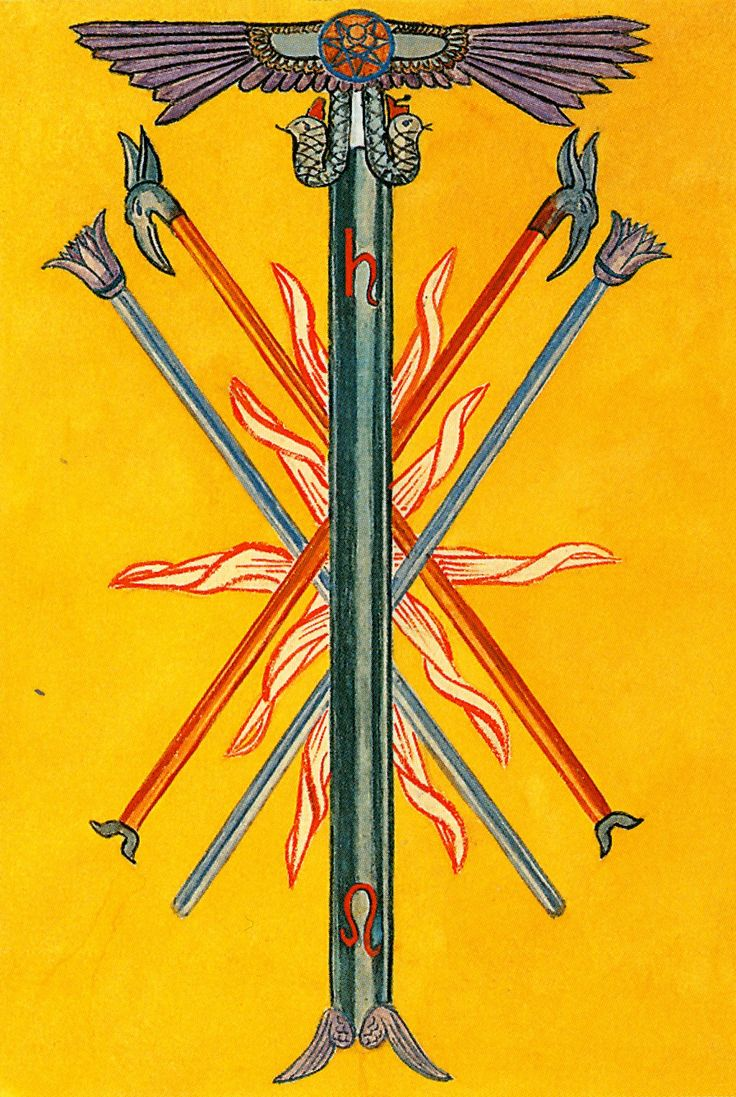Prince Wand: 17 Best Images About Thoth Tarot (Minor Arcana) On