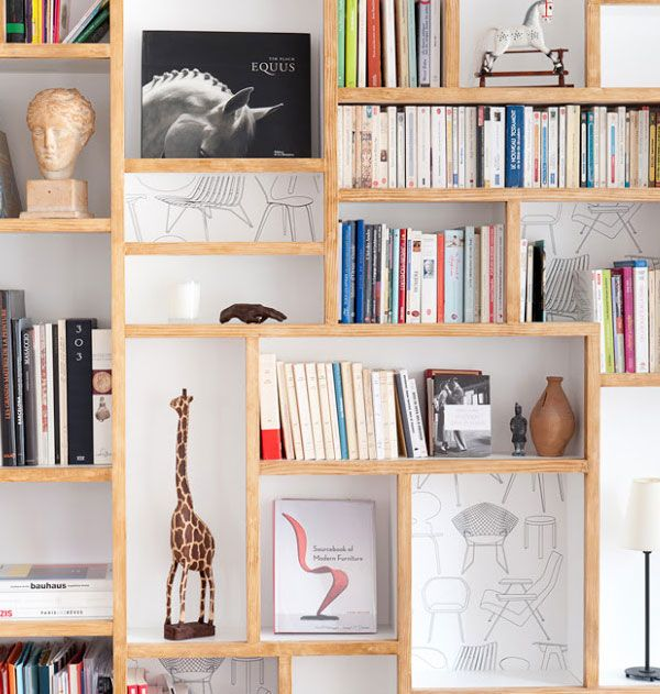 Designer Files: {Not Your Typical Paris Apartment}   Apartment34 · Bookshelf  ...
