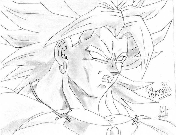 Pagina Para Colorear De Dragon Dragon Ball Z Para Dibujos: Dibujos De Dragon Ball Z Broly